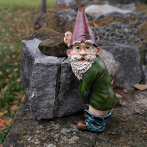 Peeing Garden Gnome, Funny Gnomes Garden Decorations for home, lawn or garden, halloween gnomes Christmas decorations (multicolor)