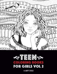 Teen Coloring Books For Girls: Vol 2: Detailed Drawings for Older Girls & Teenagers; Fun Creative Arts & Craft Teen Activity, Zendoodle, Relaxing … Mindfulness, Relaxation & Stress Relief