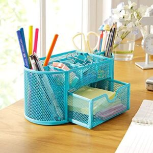Desk Organizer – 22 11 10 5cmnew Multifuction Stationery Desk Organizer 9 Cells Metal Mesh Desktop Office Pen Pencil – Drawers For Ehite Vega Tote Expandable Sections Bamboo Modern Marble