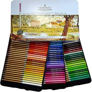 SCHPIRERR FARBEN 72 Color Pencil Set Professional Named and Numbered, Oil Based Soft Core, Ideal For Adult Crafts, Artists, Sketchers and Children – Coloring Sketching and Doodling