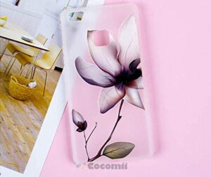Cocomii 3D Flower Translucent Huawei P10 lite/Nova Youth Case, Slim Thin Matte Soft Flexible TPU Silicone Rubber Gel 3D Relief Silicone Floral Fashion Phone Case Bumper Cover for Huawei P10 lite/Nova Youth (Lotus Flowers)