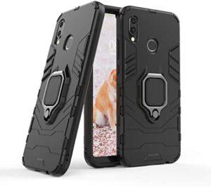 Cocomii Black Panther Ring Huawei P20 lite/Nova 3E Case, Slim Thin Matte Vertical & Horizontal Kickstand Ring Grip Reinforced Drop Protection Fashion Phone Case Bumper Cover for Huawei P20 lite/Nova 3E (Jet Black)