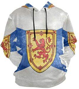 Nova Scotia Provincial Flag Men's Pullover Hooded Sweatshirt