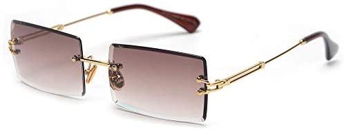 Rectangle Sunglasses Women Rimless Square Sun Glasses for Women Christmas Gifts