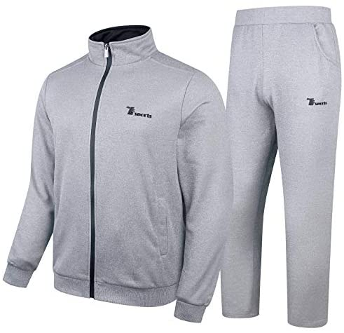 YSENTO Men's Track Suits 2 Pieces Jacket & Pants Warm Up Jogging Suits Sweatsuit Sportswear