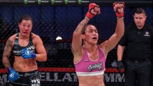 Cris Cyborg defends Bellator championship with submission victory over Arlene Blencowe