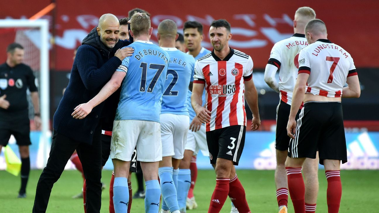 Man City show they're fighting for Guardiola with scrappy win at Sheffield United