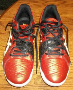 Asics Men's GEL Sensei 6 Athletic Volleyball Shoes Red Size 9 Sales Sample