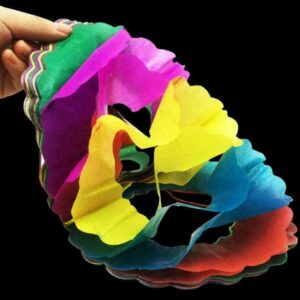 Small Paper Pull Flower Garland Magic Tricks Toys For Kids Game Fun 2020 C0T0