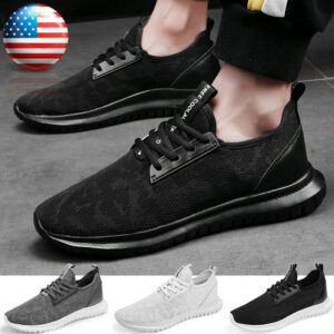 Men's Lightweight Athletic Running Walking Gym Sneakers Casual Sports Shoes US