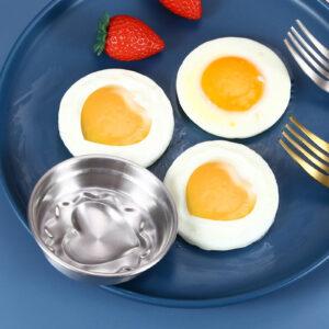Heart Shape Non-Stick Stainless Steel Egg Shaper Boiler Baking Mold Mould Tool