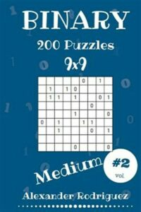 Binary Puzzles – Medium 200 Vol. 2, Brand New, Free shipping in the US