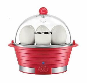 Chefman Electric Egg Cooker Boiler Rapid Poacher Food & Vegetable Steamer Qui…
