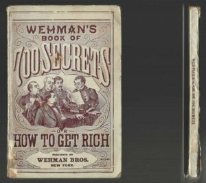 Book of 700 SECRETS or How To GET RICH c 1899 Wehman Bros vtg Facts Tricks Magic