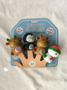 Happy Holidays Magic Years Set Of 4 Finger Puppets For Playtime & Bath Time Fun