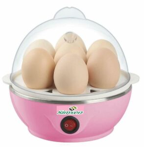 Automatic Off Egg Boiler Electric 7 Egg Poacher for Steaming,Boiling Multicolor