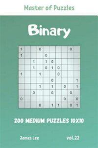 Master of Puzzles – Binary 200 Medium Puzzles 10×10 vol. 22, Like New Used, F…