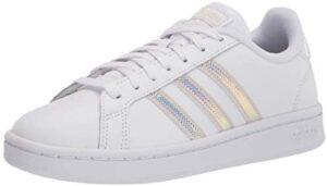 adidas Women's Grand Court, White/Alumina/Alumina, 9.5