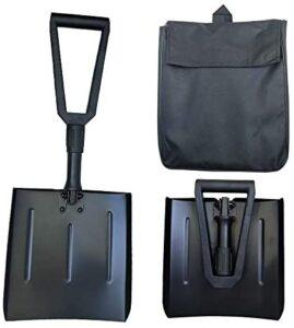 Folding Shovel, Aluminum Alloy Snow Shovel Set – Lightweight Durable and Portable Car Snow Shovel Suitable for Outdoor Camping Car and Garden