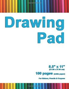 Drawing Pad: 8.5″ X 11″, Personalized Drawing Sketchbook, 100 pages, Durable Soft Cover,Art Pencil Set-[Professional Binding]