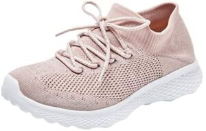 Zlolia Women's Athletic Mesh Sneakers – Lightweight Breathable Knitted Casual Running Walking Shoes