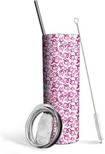Breast Cancer Survivor Gifts for Women, Breast Cancer Pink Ribbon-Ovarian, Breast Cancer Awareness, Chemotherapy, Gifts for Cancer Patient – 20 Oz Tumble
