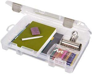 ArtBin 4000AB Medium 1 Compartment Solutions Box, Art & Craft Organizer, [1] Plastic Storage Case, Clear
