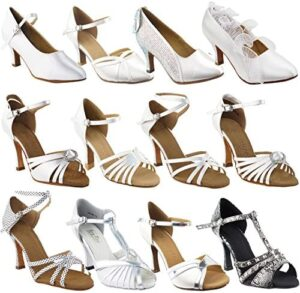 50 Shades White Ballroom Latin Dance Shoes for Women: Ballroom Salsa Wedding Clubing Swing