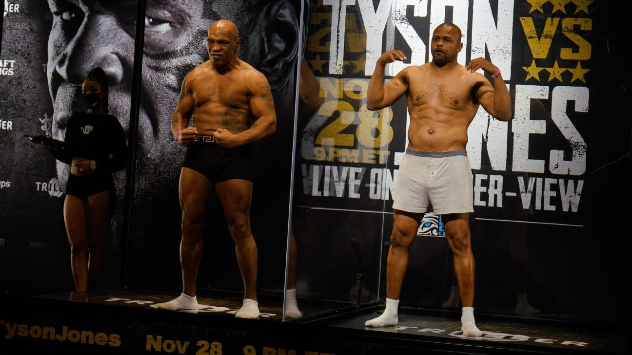 Sports and entertainment stars react to Mike Tyson-Roy Jones Jr. fight