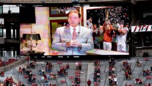'Coaching the TV' — Inside Nick Saban's Iron Bowl from home