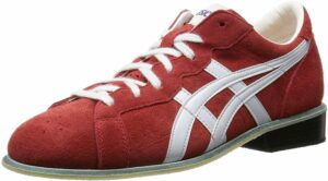 Sale ASICS Weight Lifting Shoes 727 Red Leather New Genuine from Japan F/S