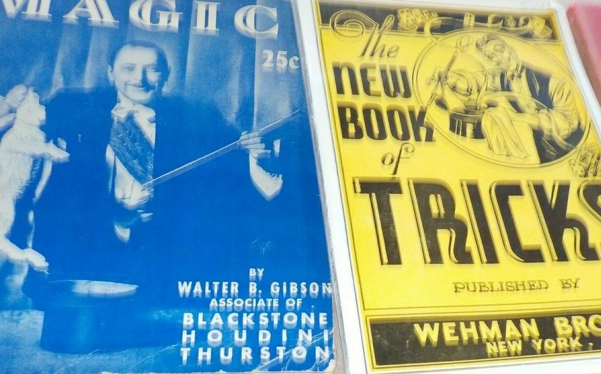 Secrets of magic Book Walter Gibson , New book of Tricks Weham Bros Books