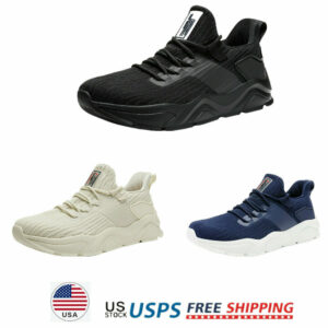 Mens Sport Shoes Knit Mesh Running Shoes Comfort Lightweight Athletic Sneakers