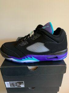 New DS Nike Air Jordan 5 V Low Golf Shoe Black Grape Ice CU4523-001 Size 13 SALE