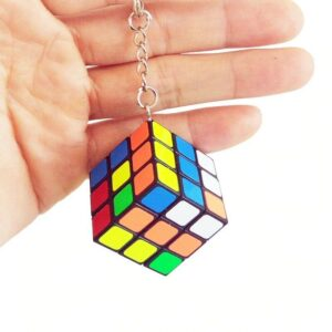 Fun Cute Mini Magic Keychain Cube Educational Speed Cube Puzzle Toy For Kids