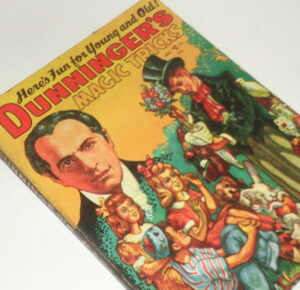 Vintage magic trick book, Dunninger's Magic Tricks, Here's Fun For Young and Old