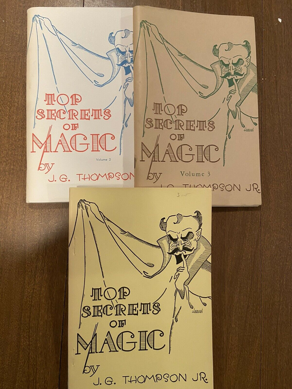 Top Secrets of Magic by J.G. Thompson – Volumes 1, 2 and 3 – Complete set