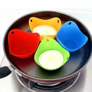 Silicone Nontoxic Egg Poacher Tray Fried Cooker Boiler Kitchen  Tools
