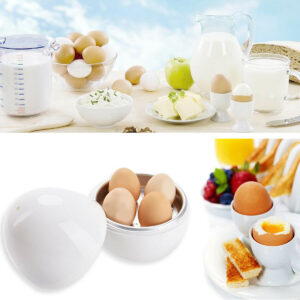 Electric Microwave Egg Boiler 4 Eggs Cooker Fast Easy Breakfast Kitchen Machine