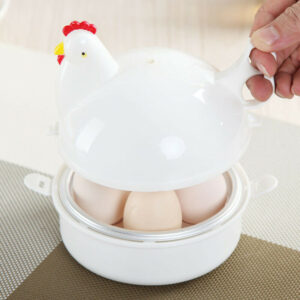 Microwave Chicken Shape 4 Egg Steamer Boiler Home Kitchen Tool New