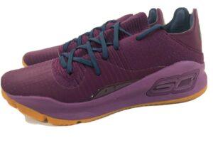 Under Armour Curry 4 Low Mens Merlot Purple Basketball Shoes Sz 11 3000083-500
