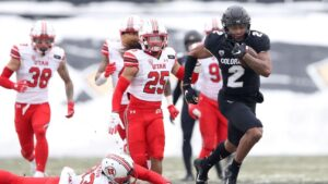 Brenden Rice, son of Jerry Rice, into Colorado Buffaloes record book with 2 TDs