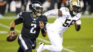 Jalen Hurts wins 1st QB start as Philadelphia Eagles stun New Orleans Saints