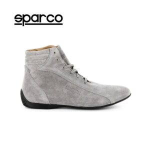 NEW Sparco Mens Monza GP Grey Suede Motor Sport Racing Driving Shoes Sale
