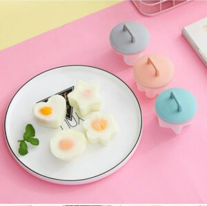Egg Mold Cute Egg Boiler Mold Kitchen Egg Cooker Tools With Lid Brush Home Tools