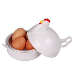 1pc Microwave Egg Boiler 4 Eggs Chicken Shaped Poacher for Home Restaurant