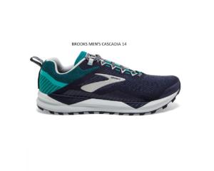 Shoes BROOKS Athletic MEN'S CASCADIA 14-Navy – Blue Grass – Grey Big sale Off