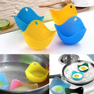 4pcs High Temperature Resistant Silicone Egg Boiler Egg Holder Eggs Makers Tool