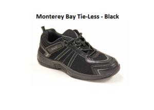 Monterey Bay Tie-Less – Black Shoes Mens Athletic New Box- Sale Off.