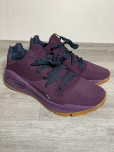 Under Armour Curry 4 Low Merlot Purple Basketball Shoes Size 9.5 3000083-500